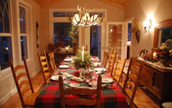 dining table decorated for a date